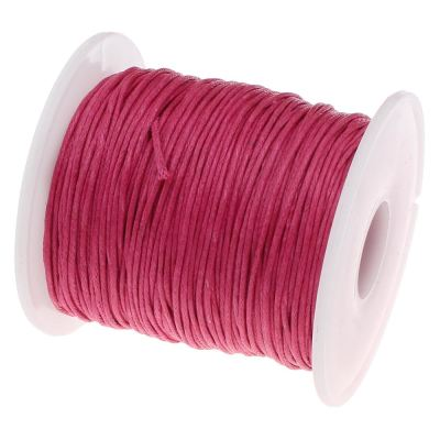 Waxed 1Mm Cotton Jewelry Cord -- Variety Of Colors - Crimson - Wax