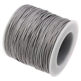 Waxed 1Mm Cotton Jewelry Cord -- Variety Of Colors - Darkgray - Wax