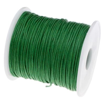 Waxed 1Mm Cotton Jewelry Cord -- Variety Of Colors - Green - Wax
