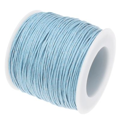 Waxed 1Mm Cotton Jewelry Cord -- Variety Of Colors - Lightblue - Wax