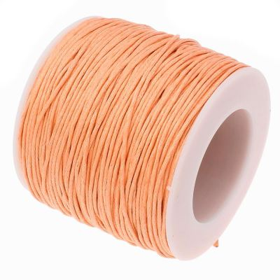 Waxed 1Mm Cotton Jewelry Cord -- Variety Of Colors - Peachpuff - Wax