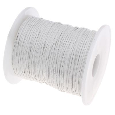 Waxed 1Mm Cotton Jewelry Cord -- Variety Of Colors - Whitesmoke - Wax
