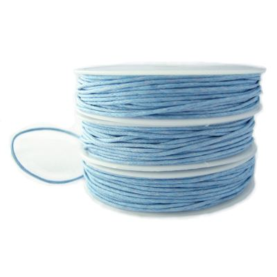 Waxed Cotton Cord: 10 Yards | 30 Feet Powder Blue 1Mm String / Bracelet / Macrame / Chinese Knotting Shamballa 80253