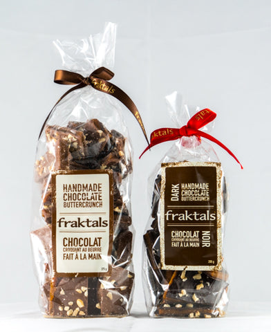 fraktals Belgian chocolate buttercrunch bags