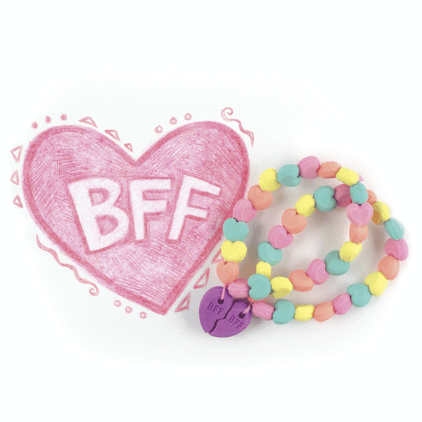 scented best friend eraser bracelets