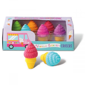 scented ice cream cone erasers