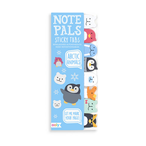arctic animals sticky tabs