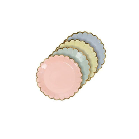 assorted pastel canape plates