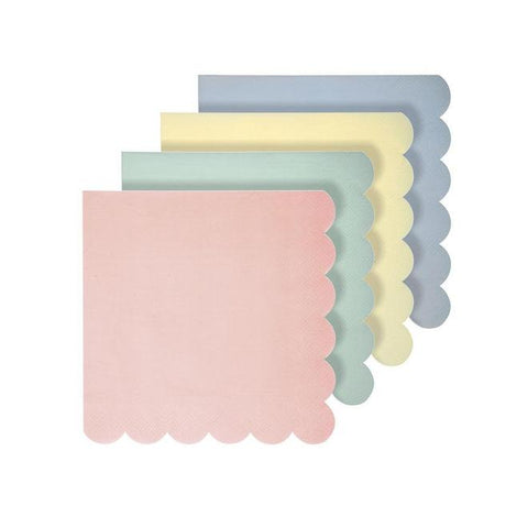 small assorted pastel napkins