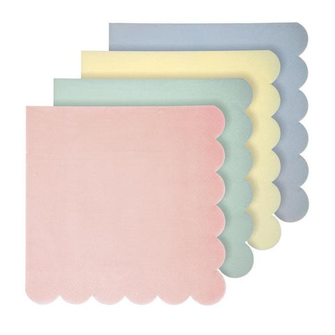Assorted Pastel Napkins ~ Large