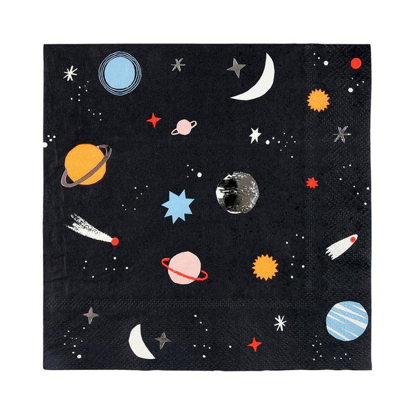 outer space themed party napkins
