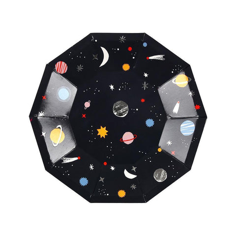 small outer space party plates