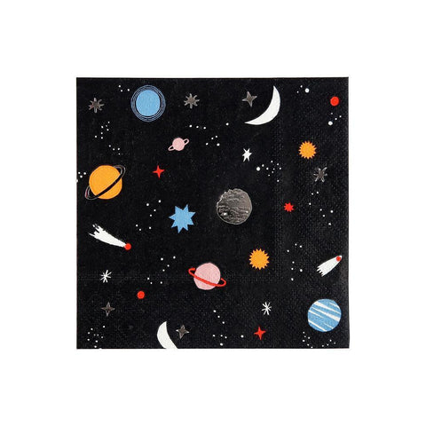 Outer Space Party Napkins ~ Small