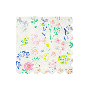small wildflower napkins
