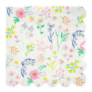 large wildflower napkins