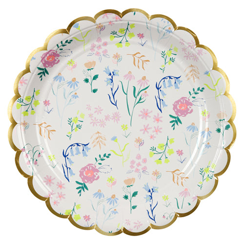 large wildflower party plates