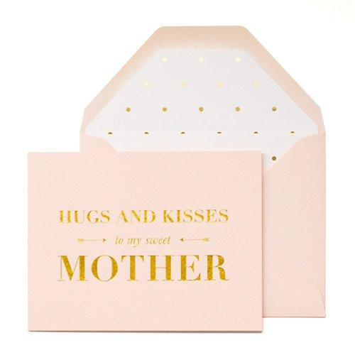 hugs and kisses mother card