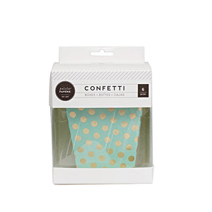Mint and Gold Confetti Dot Treat Boxes