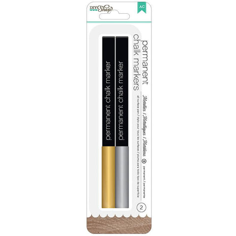 Gold and Silver Permanent Chalk Markers
