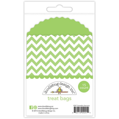 Limeade Chevron Treat Bags