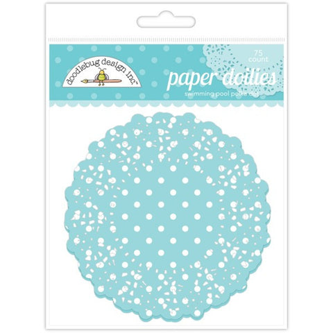 Swimming Pool Polka Dot Paper Doilies