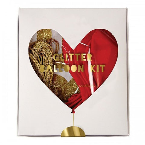 Glitter Heart Balloon Kit