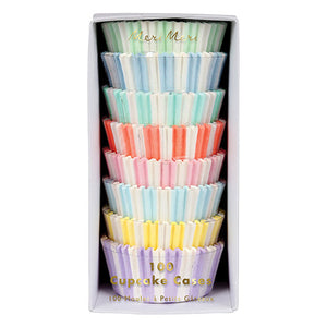 pastel striped cupcake liners