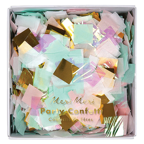 iridescent pastel party confetti