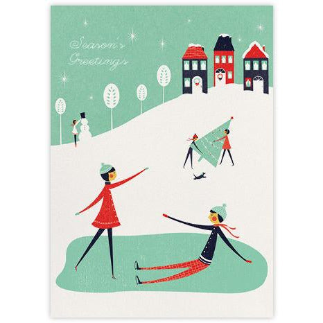 Snow Outside Greeting Card
