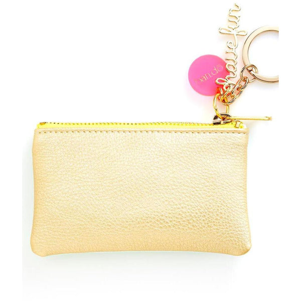 Key Chain Zip Pouch ~ Mermaid + Gold