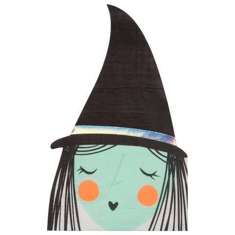 cute witch halloween paper napkins