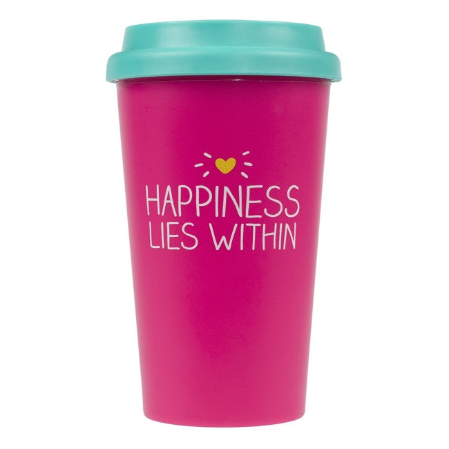 happiness lies within travel cup