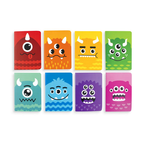 colorful monster mini notebooks