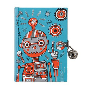 Robot Locked Diary