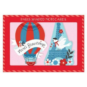 Paris Shaped Note Cards