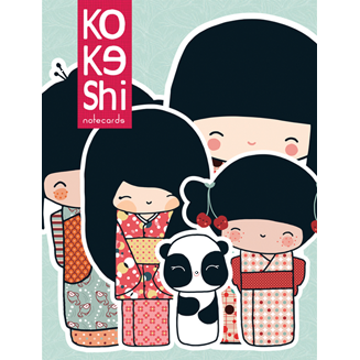 Kokeshi Note Cards
