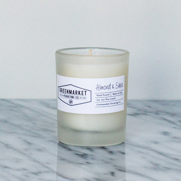 mini almond and shea soy candle