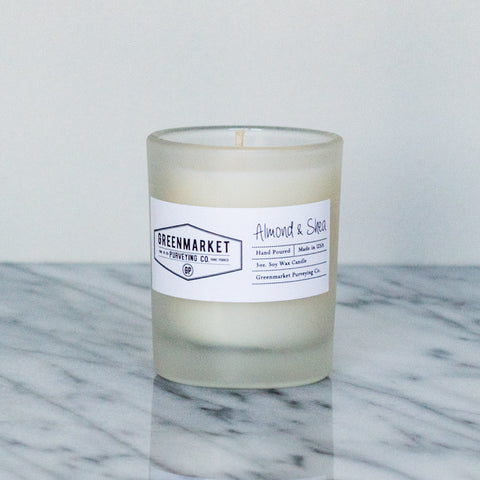 Almond and Shea Glass Tumbler Candle ~ 3 oz.