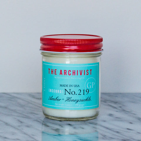 Amber + Honeysuckle Jam Jar Candle ~ 7 oz.