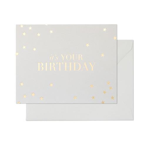 light gray it's your birthday card