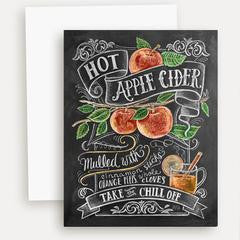 apple cider recipe note card
