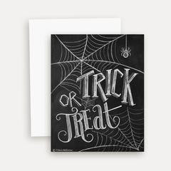 Trick or Treat Spider Web Note Card