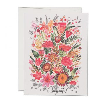 Flowers Congratulations Greeting Card