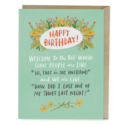 Losing Shoes Birthday Card