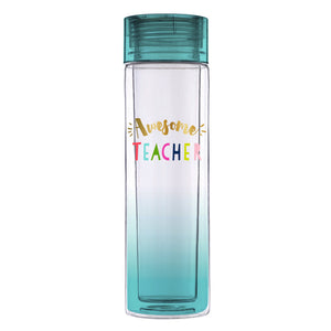 awesome teacher plastic water bottle