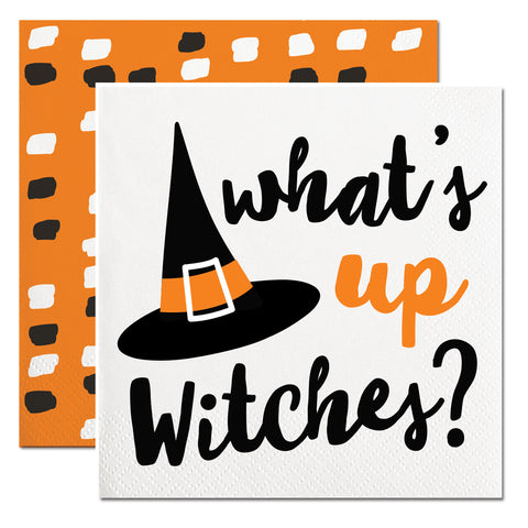 what's up witches paper napkins