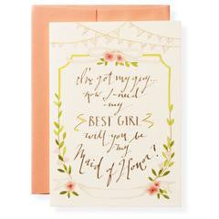 Maid Of Honor | Best Girl Greeting Card