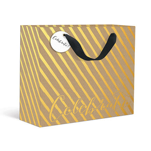 Kraft Stripe Celebrate Large Gift Bag