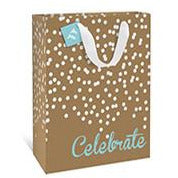Kraft Confetti Celebrate Large Gift Bag