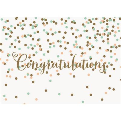 Congratulations Confetti Greeting Card